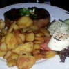 200 gr. Rumpsteak mit Bratkartoffeln