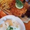 Bayrisches Schnitzel mit Obazdn und Speck gefüllt