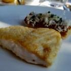 Foto zu Jacobs Restaurant  · Hotel Louis C Jacob: Steinbutt Lauch Meerettich