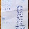 Rechnung auf Zettel