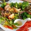 Riesengarnelen im Salatbett