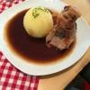 kleine Portion Schäufele mit Klos und aweng Soß ( 7,40 €