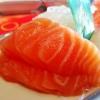 Lachs Sashimi...schön fett!