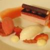 Delice von Erdbeer und Rhabarber