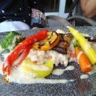 Foto zu Gehrlein's Hardtwald: Gegrilltes Gemüse auf Pfifferlingsrisotto