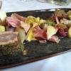 Gepfefferter Thunfisch mit gepökeltem Iberico-Schweinenacken