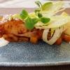 Gelackter Heilbutt / BBQ / Mango / Brioche / Fenchel