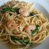 Spaghetti, Garnelen, Rucola