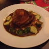 Spanferkelbraten mit Kartoffelstampf und Rosenkohl ( 12,60  €