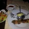 300gr. Fleischspieß und Salat