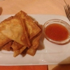 gebackene Wan - Tan mit süß-sauer Soße