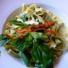 Spinatnudeln mit Gorgonzola