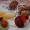 Dessert nach Art des Hauses