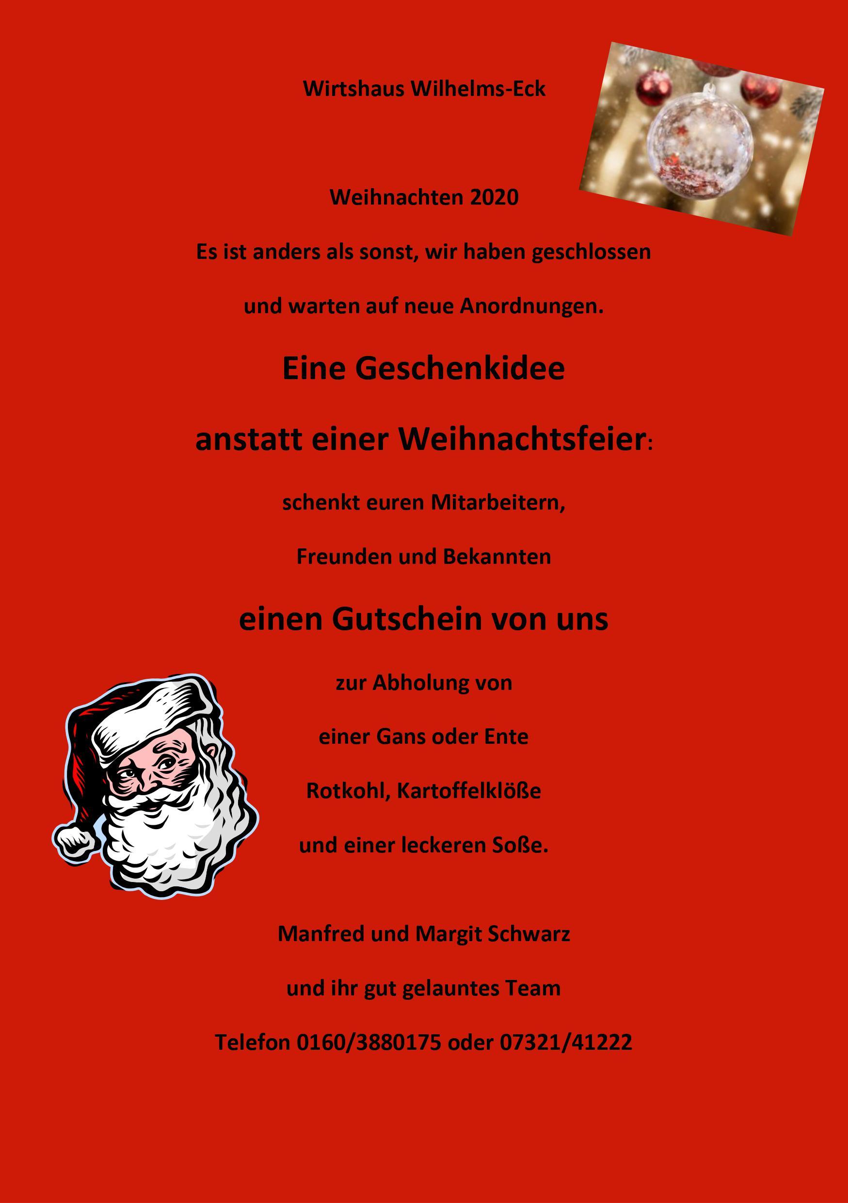 Bild zur Nachricht von Wirtshaus Wilhelms Eck