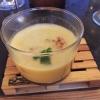Kircherbsensuppe mit Tomaten-Paprika-Relish