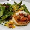 Lachstatar - Avocado – Spargel – Walnuss- Limetten Crème fraiche – Blini – Kaviar