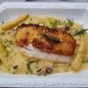 Rotbarsch – Kartoffelmantel – Zuckermais – Porree – Buchenpilze