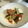 Auberginenravioli | Salzzitrone | Tomate | Joghurt