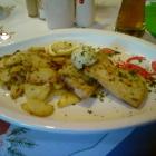 Foto zu Restaurant im Hotel Hof Münsterland: Fischsteak Platte.