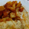 Kartoffelfüllung des Omlett