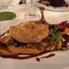 Maishähnchenbrust mit Steinpilz-Zucchini-Gemüse, Schmelztomaten und Kürbispüree