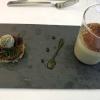 Steinpilz-Cappuccino | Gemüsepraline | Rindertatar | Gelee