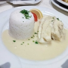 Foto zu New Orleans: Kabeljau, Limettensoße, Basmatireis
