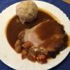 Schweinebraten mit Knödel und Sauce ( 10,90€