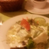 Salat und Paprikapaste