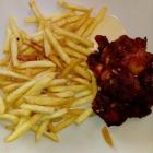 Foto zu Brauerei Gasthaus Lohhof: Mittagsmenü Chicken Wings mit Pommes
