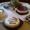 Selbstgebackene Torten und Kuchen