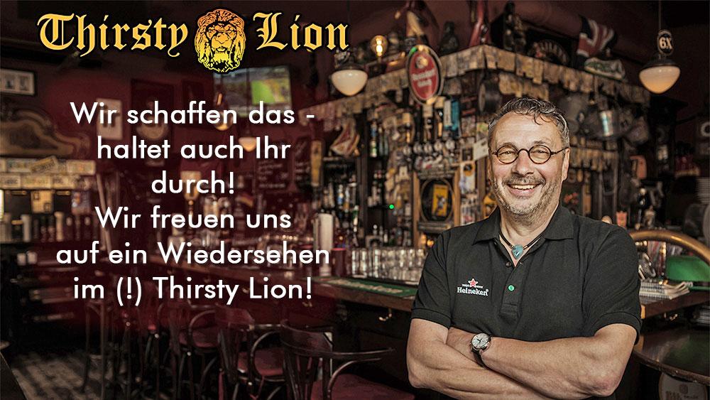 Bild zur Nachricht von Mr. Martin's Thirsty Lion