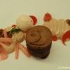 Dessert mit Schoklodenküchlein