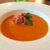 Tomatensuppe mit Serrano-Schinken