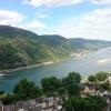Aussicht von Burg Stahleck auf das Mittelrheintal