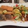 """Fischplatte """"Boddenblick"""" bestehend aus gebratenen Filet vom Zander, Dorsch und Seelachs"""