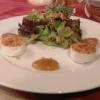 Edelhof - Ziegenkäse mit Feigensenf und Salat