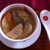 Fischsuppe mit Fischhklöschen