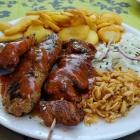 Foto zu Olympia: Korfu Platte mit Reisnudeln, Kartoffel und Zwiebeln