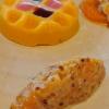 Tartar vom Kürbis vorne, hinten eine Art Pudding