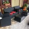 Sesselgruppe im Freien
