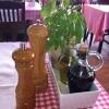 Tischdeko mit lebenden Kräutern