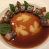 makrelen sashimi, shiso & ponzu