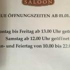 Foto zu Café Saloon: Neue Öffnungszeiten ab 01.01.2019