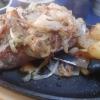 Rumpsteak (Schmorzwiebeln) und Bratkartoffeln