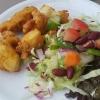 """""""Murgh Pakora"""" – Hähnchenfleischstücke mit Kichererbsenmehl paniert und frittiert"""