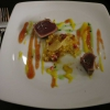 Thunfisch halbroh / exotisches Früchte-Chutney / Tomaten Karamell / Mango-Safran Vinaigrette