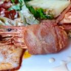 Foto zu Tano: Detail: Gamba mit Parmaschinken