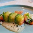 Foto zu Se7en Oceans · Gourmetrestaurant · Europa Passage · 2.OG: Lachs, Avocado, Dashi, Teriyaki, Yuzu