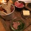 Snack: Laugenstangen, Brot, Leberwurst, Schinken